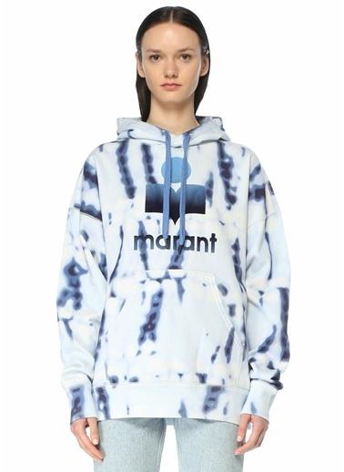 Etoile Isabel Marant Etoile Isabel Marant  Kapüşonlu Batik Desenli Sweatshirt 101601883 Mavi